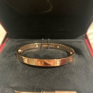 Cartier 4 diamond LOVE bracelet size 16